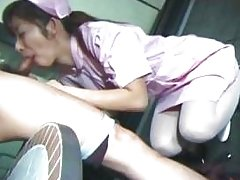 Japanese nurse riding cock like a pro part1
